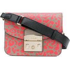 Furla small leopard print shoulder bag ($315) ❤ liked on Polyvore featuring bags, handbags, shoulder bags, furla handbags, leopard print purse, leopard purse, leopard handbag and leopard crossbody purse