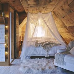canopied cozy bed space with lights loft Dream Rooms, Dream Bedroom, Home Bedroom, Bedroom Decor, Bedroom Ideas, Attic Bedrooms, Pretty Bedroom, Dreams Beds, Casa Real