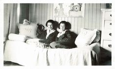Two DG sisters in their sorority house dorm room at Stanford University in California, late 1910's-early 1920's. Upsilon(III) Chapter at Stanford was chartered in 1897 and closed in 1944; then re-chartered in 1979 and again closed in 1999).