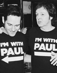 Paul Rudd and Paul McCartney behind the scenes of an SNL photoshoot, 2010.