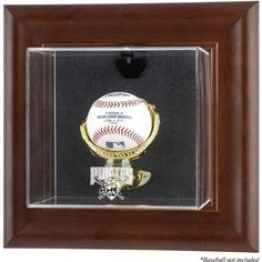 Pittsburgh Pirates Fanatics Authentic Brown Framed Wall-Mounted Logo Baseball Display Case - $69.99