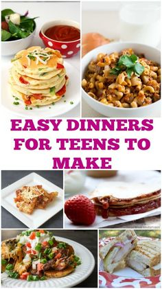 Need some dinner ideas for your teen to make? These easy dinners for teens are perfect for teens ...