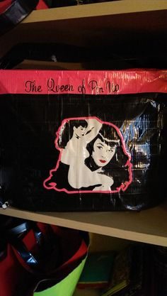 Bettie Page purse  duct tape purse  duck tape by theducktapediva, $20.00