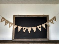 Class of 2015 #Graduation Burlap Banner with caps #congratsgrad by SweetThymes.etsy.com