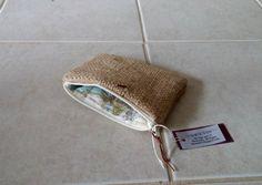 Burlap zipper pouches Set of 2 wallet bridesmaid by LinaandVi