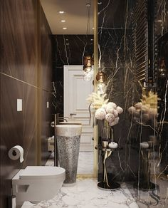 Discover the latest bathroom design trends for your amazing project, and create the bathroom of your dreams with these inspirational design ideas! Washroom Design, Bathroom Design Luxury, Dream Bathrooms, Amazing Bathrooms, Luxury Bathrooms, Bathroom Fans, Interior Exterior, Home Interior, Luxury Interior