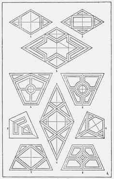 A Handbook of Ornament 1896 by Meyer Franz Sales - Organic Geometry Geometry Art, Sacred Geometry, Geometric Designs, Geometric Shapes, Zentangle Patterns, Quilt Patterns, Pattern Art, Pattern Design, Geometric Drawing