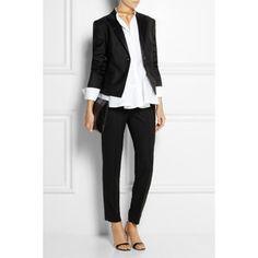 McQ Alexander McQueen Wool-twill peplum blazer