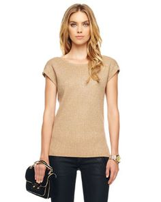 Michael Kors Shimmery Ribbed Knit Top