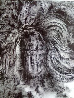 A4-Original Abstract Contemporary Textured Painting Rubber media on satin 100x80cm 2012