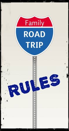 Road Trip Rules with Kids!  Nothing bonds a family like 8 hours together in a confined space.  Maybe it is time to go visit Grandma, or you've got to take Susie to camp, or you must br