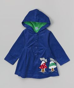 This Blue Mushroom Corduroy Jacket - Toddler & Girls by the Silly Sissy is perfect! #zulilyfinds