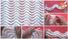 Deniz dalgası bebek battaniyesi yapımı Manta Crochet, Crochet Motif, Crochet Stitches, Knit Crochet, Crochet Patterns, Crochet For Kids, Baby Kids, Knitting, Handmade