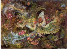 ♥♥ Hope is Eternal 1988 or Life Unfolding ♥♥ by Mahmoud Farshchian Iranian Artist Painting, Art Prints, Art Painting, Art Museum, Persian Art Painting, Miniature Art, Painting, Book Art, Fairytale Art