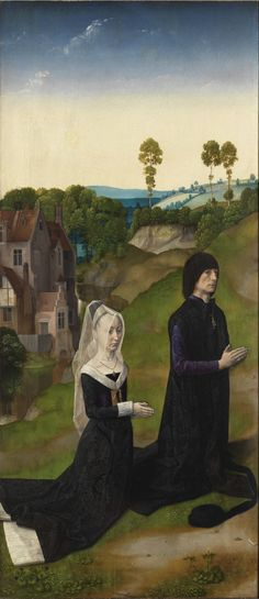 History of Art: Gothic Art- Dieric Bouts Hennin, Renaissance Paintings, Gothic Art, Triptych, 15th Century, Middle Ages, All Art, Art History, Medieval