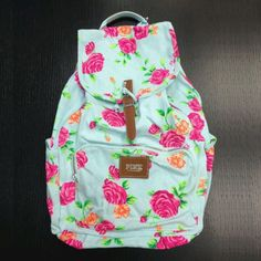 PINK by VS floral backpack! I finally got one! :)
