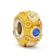 Yellow Euro Style Bead Studded with Rhinestones & Accessories ...