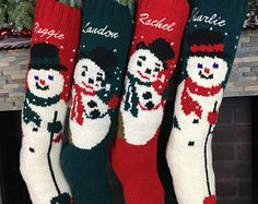 We delivery hand knitted Christmas stockings that we personalize with care, shop at www.handknitholiday.com