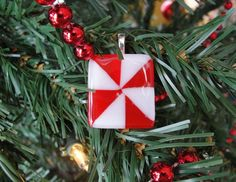Square Peppermint Candy Pendant  $22.00