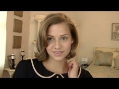 Classic Hairstyle For Short Hair ..She is so good at explaining what to do! So cute