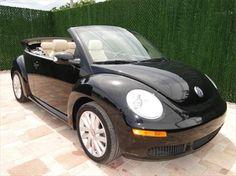 2010 Volkswagen New Beetle black convertible httpwwwiseecars