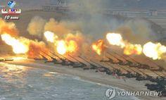 A Coreia do Norte continua com o treinamento com centenas de mísseis de longo alcance e a tensão aumenta. Saiba mais.