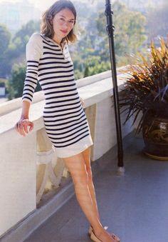 Sofia Coppola in a striped dress  style  fashion  stripes Sofia Coppola  Style b563b525ae3