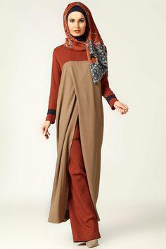 Wrap Sleeveless Tunic - Minc - Tuva By Burcu Aslan … Abaya Fashion, Modest Fashion, Fashion Outfits, Hijab Chic, Modest Wear, Modest Outfits, Moslem Fashion, Modele Hijab, Hijab Trends