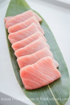 Deliver premium sushi-grade Bluefin Chutoro (9 oz) -  one of the most highly prized part of the tuna- to your door!  Chutoro's marbled texture with just the perfect amount of fat simply melts in your mouth.  Order now at FishforSushi.com
