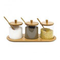 Držiak na korenie Jiao, Bamboo Glass Spice Jar Set, Glass Spice Jars, Spice Bottles, Glass Jars, Cabinet Spice Rack, Wall Mounted Spice Rack, Spice Racks, Garlic Storage, Essen