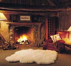Bear Skin Rug And Fireplace 1000+ ideas abo...