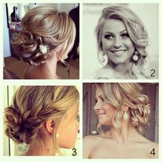 Wedding hairstyles - if i go with an up do. I like the braids thrown in there too!
