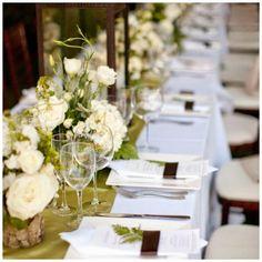 Inspiration: // green tables inspiration: green table settings