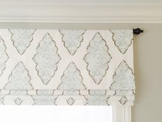 This sort of pattern would look gorgeous in playroom.something to coordinate with the doors Faux fake flat roman shade valance with by JaimeInteriors on Etsy Faux Roman Shades, Premier Prints, Valance Curtains, Small Window Curtains, Drapery, Valance Ideas, Check Curtains, Curtains Living, Cornice