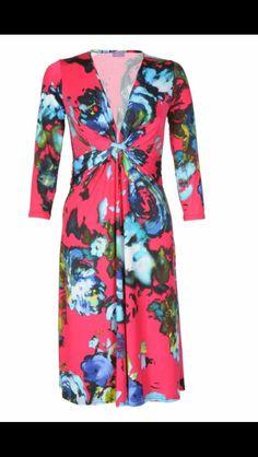 Pink print dress at Olivia Danielle Winter Style, Fall Winter, Autumn, Winter Fashion, Wrap Dress, Boutique, Pink, Dresses, Winter Fashion Looks