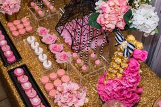 Amazing treats at a Paris bridal shower party! See more party planning ideas at CatchMyParty.com!