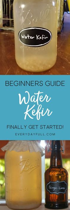 HOMEMADE WATER KEFIR - This healthy, probiotic beverage is easy to make and ready in just 24 hours. Get your hands on some kefir grains and you'll soon be enjoying naturally fermented sodas on a daily basis. We've got a huge list of trouble-shooting tips to help you succeed your very first time! #waterkefir #ferment #fermenting #healthydrinks