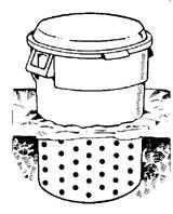Homemade trashcan composter