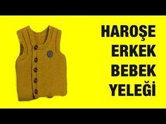 Haroşe'den yapılan Şık Bir Erkek Yeleği - Örgü Modelleri - YouTube