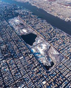 N.Y. Central Park snow