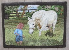 PASTURE(22inx30in)7-03, hooked by Roland Nunn