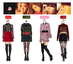 """""""BLACK PINK - PLAYING WITH FIRE❤"""" by mabel-2310 on Polyvore featuring Yves Saint Laurent, Pretty Polly, Love Moschino, River Island, MSGM and Oscar de la Renta"""