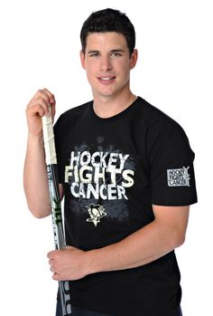 Sidney Crosby for the Pittsburgh Penguins (my team!) and their cancer efforts. The team's former star player and current owner, Mario Lemieux, is second only to Gretsky in scoring records, and he PLAYED while in chemo for Hodgkins Lymphoma.