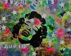 Koop 'Marilyn Monroe' van Femke van der Tak (fem-paintings) voor aan de muur. Marilyn Monroe, Colorful Paintings, Minnie Mouse, Disney Characters, Fictional Characters, Van, Poster, Halloween, Canvas