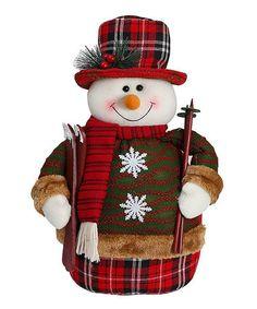 Loving this Snowman & Skis Décor on #zulily! #zulilyfinds