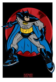 "Image of Batman ""Jordan 1""  Animated"