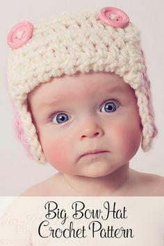Crochet PATTERNS - Aviator Earflap Pattern - Crochet Pattern Baby - Crochet Hat…