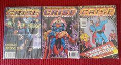 Crise Nas Infinitas Terras. Minissérie - 1ª Série. Editora Abril. 3 Edições (1-3)
