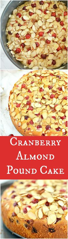 A beautifully moist Cranberry Almond Pound Cake that is bursting with delicious cranberries and almond flavor throughout. Easy to make and a total crowd pleaser recipe!