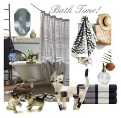 """""""Bath Time!"""" by plumsandhoneyvintage ❤ liked on Polyvore featuring interior, interiors, interior design, home, home decor, interior decorating, James Perse, 4040 Locust, Simons Maison and Houbigant"""